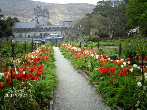 Garden at Glenveagh Castle, Donegal, Ireland