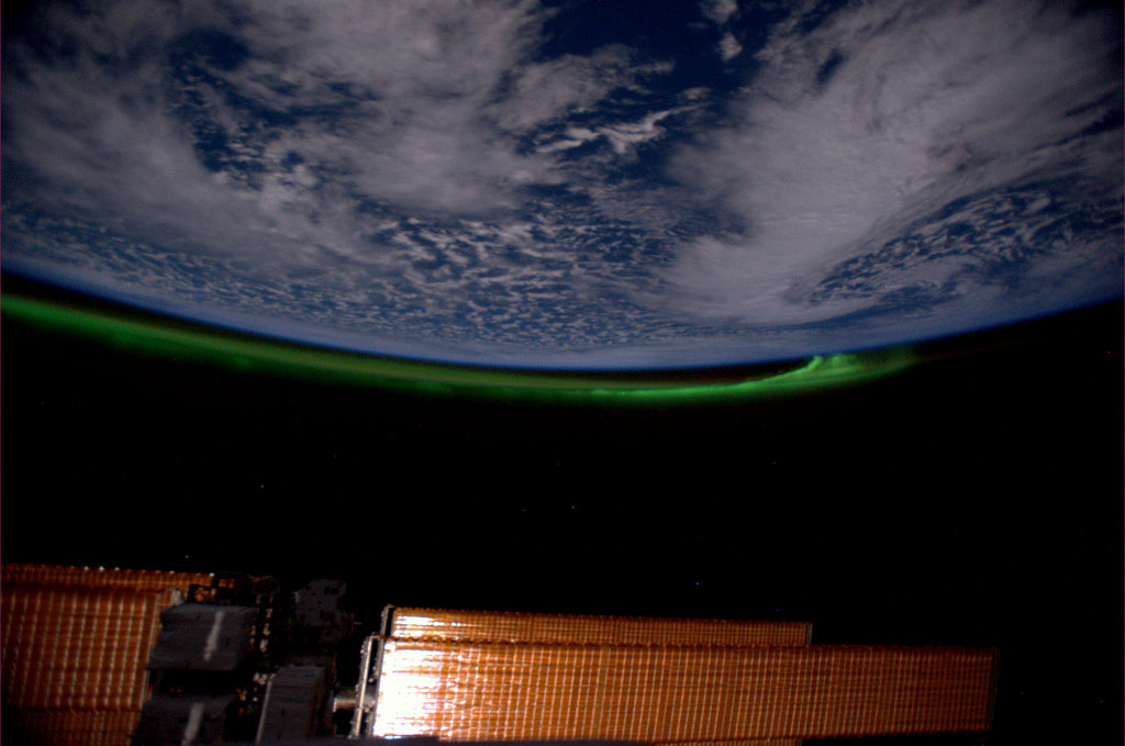 The Northern Lights from space - Photo: ESA/NASA