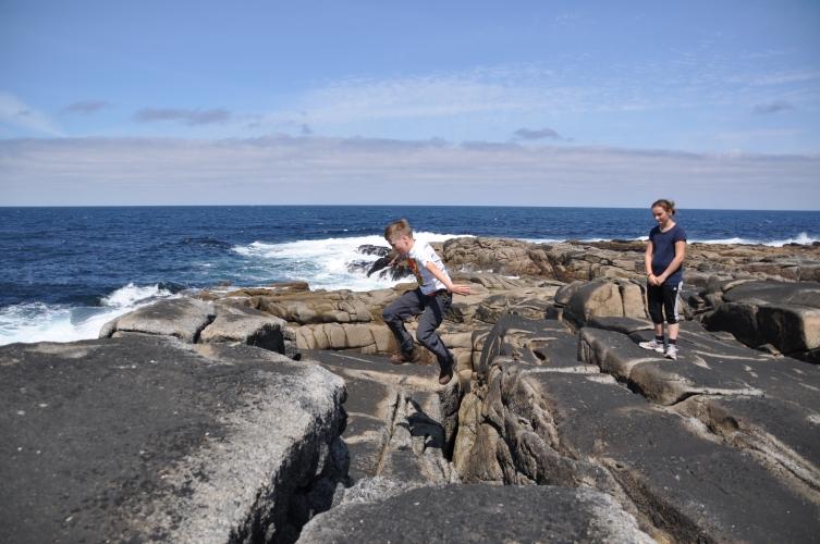 Fanad rock jumping!