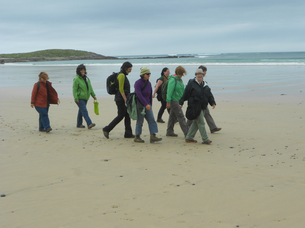 Walking the beach in Fanad