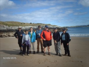 Denise and group at Ards Forest-Lucky Shell Beach