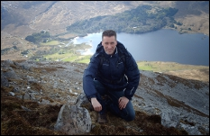 Ed on Errigal, highest mountain in Donegal