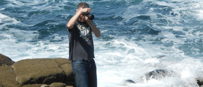 Ed on the edge of the Atlantic in Donegal