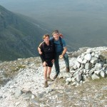 Brigitte and Richard from Montreal near the top of Muckish.