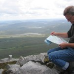 Erik from Bremen checking map on Muckish Mountain, Donegal.