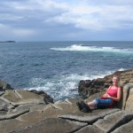 Karola enjoying our coastal couches in Fanad, Donegal.