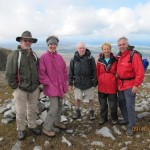 The Summiteers! Peter, Sabine, yours truly, Gloria and Ray on top of Muckish.
