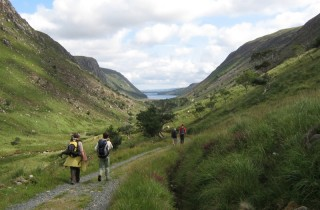 Walking into Glenveagh National Park