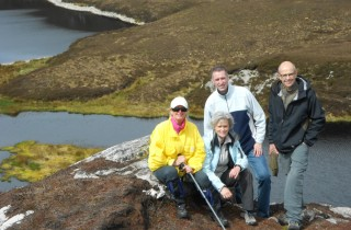 Ed, Jack, Marja and Eugen on Knockalla!